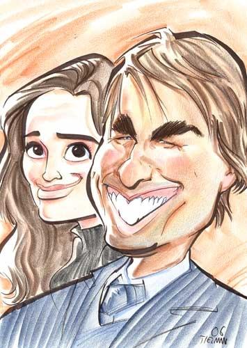 Katie Holmes, Tom Cruise par CartoonVegas